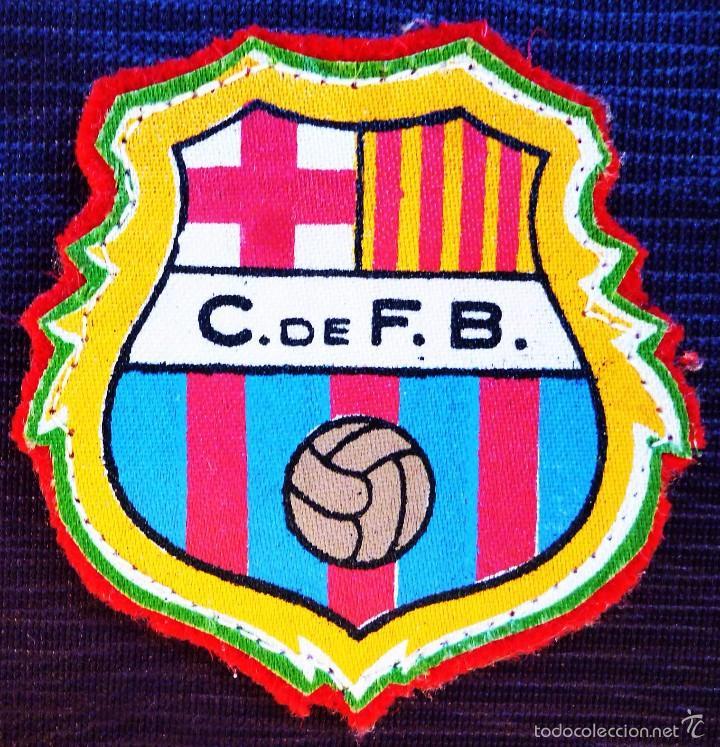 ANTIGUO PARCHE DE FUTBOL DE TELA C. DE F.B. AÑOS 40. SIN USO. F.C.BARCELONA. FCB. BARCA. (Coleccionismo Deportivo - Material Deportivo - Fútbol)