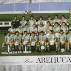 Coleccionismo deportivo: ANTIGUA LÁMINA POSTERS DE FÚTBOL DE VARIOS EQUIPOS, REAL BETIS, REAL MADRID, MURCIA, AREHUCAS 1986. Lote 60053215