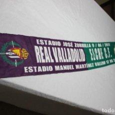 Coleccionismo deportivo: BUFANDA DE FUTBOL ASCENSO A PRIMERA DEL REAL VALLADOLID Y EL ELCHE C.F. SCARF. Lote 151141332
