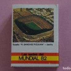 Coleccionismo deportivo: CAJA DE CERILLAS DE ESTADIO SANCHEZ PIZJUAN DEL SEVILLA F.C. LIGA 81-82 MUNDIAL ESPAÑA 82. Lote 140851788