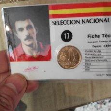 Coleccionismo deportivo: CARNET SELECCION ESPAÑOLA MUNDIAL ESPAÑA 82 JOAQUIN. Lote 71224895