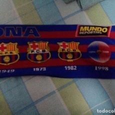 Coleccionismo deportivo: BUFANDA DEL FUTBOL CLUB BARCELONA MUNDO DEPORTIVO AÑOS 90. Lote 75261019