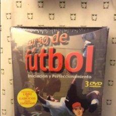 Coleccionismo deportivo: CURSO DE FUTBOL. INICIACION Y PERFECCIONAMIENTO. 3 DVD (PRECINTADO). Lote 82215520