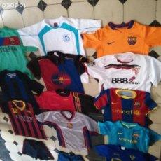 Coleccionismo deportivo: CAMISETA FUTBOL GRAN LOTE CAMISETAS BARCELONA ATLETIC MESSI DAVID VILLA ADIDAS NIKE KIPSTA RIVALDO. Lote 82939048