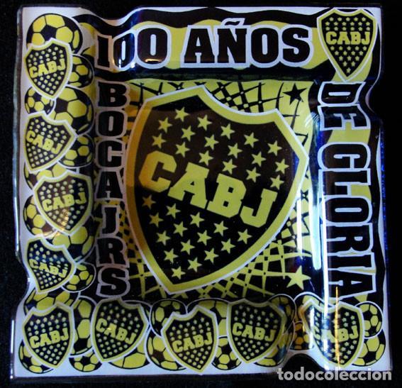 CENICERO BOCA JRS ARGENTINA - 100 AÑOS DE GLORIA - NUEVO - CRISTAL - (Coleccionismo Deportivo - Material Deportivo - Fútbol)