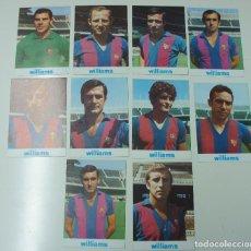 Coleccionismo deportivo: LOTE DE 10 FICHAS TÉCNICAS DEL F.C.BARCELONA, CON PUBLICIDAD DE WILLIAMS.. Lote 98839523