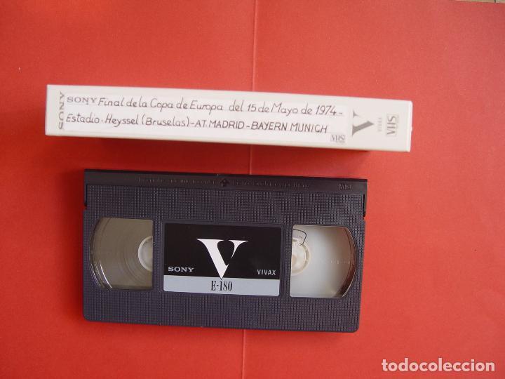 CINTA VIDEO VHS: AT. MADRID - BAYERN MUNICH (FINAL COPA EUROPA, 1974) TELE 5 ¡COLOR! ¡COLECCIONISTA! (Coleccionismo Deportivo - Material Deportivo - Fútbol)
