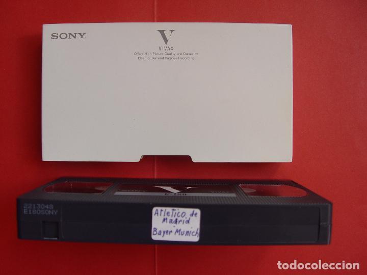 Coleccionismo deportivo: Cinta Video VHS: At. Madrid - Bayern Munich (Final Copa Europa, 1974) Tele 5 ¡COLOR! ¡Coleccionista! - Foto 2 - 100407031
