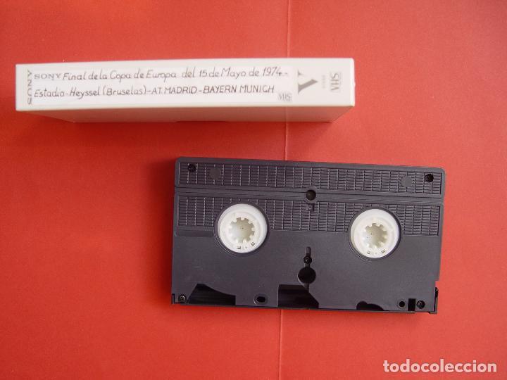 Coleccionismo deportivo: Cinta Video VHS: At. Madrid - Bayern Munich (Final Copa Europa, 1974) Tele 5 ¡COLOR! ¡Coleccionista! - Foto 3 - 100407031
