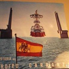 Coleccionismo deportivo: SINGLE 45 RPM. HISTORIA DEL TROFEO CARRANZA. CON LIBRETO. - CADIZ FUTBOL . Lote 104117199
