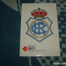 Coleccionismo deportivo: AZULEJO ESCUDO DEL RECREATIVO DE HUELVA 30X20 APROX.. Lote 104145191