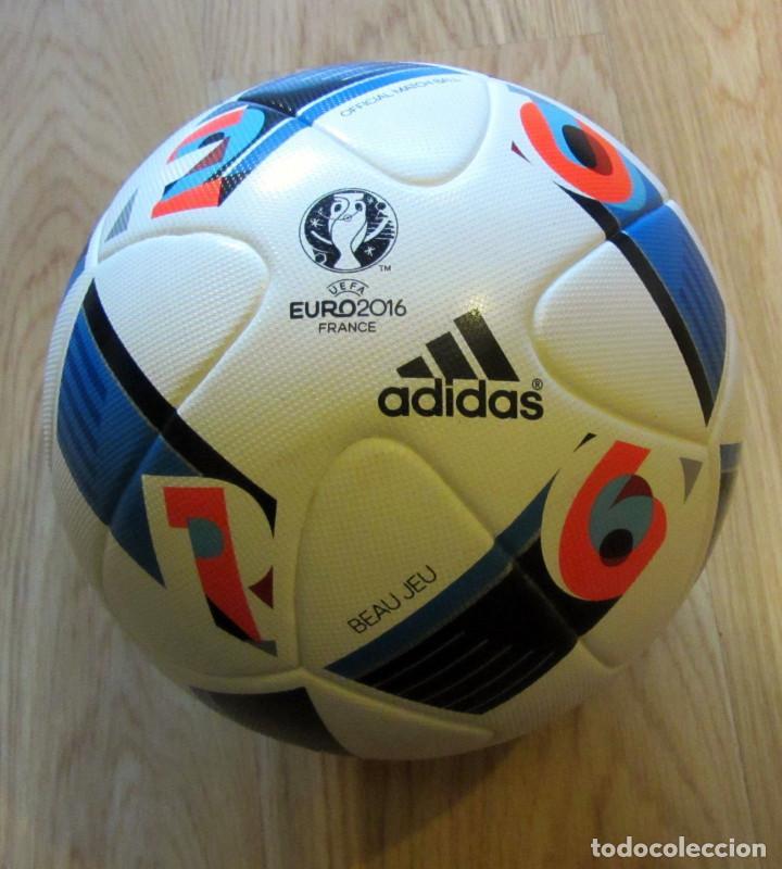 BALON OFICIAL BALL ADIDAS BEAU JEU EUROCOPA FRANCIA UEFA EURO FRANCE CUP 2016 OFFICIAL MATCH (Coleccionismo Deportivo - Material Deportivo - Fútbol)