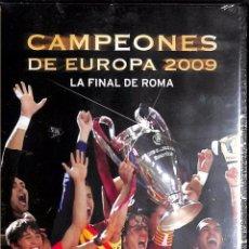 Coleccionismo deportivo: DVD CAMPEONES DE EUROPA 2009 LA FINAL DE ROMA - FC BARCELONA. Lote 108931643