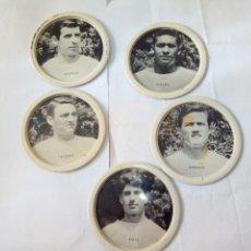 Coleccionismo deportivo: LOTE 5 POSAVASOS VALENCIA FUTBOL AÑOS 60 EL CIERVO. Lote 110091011