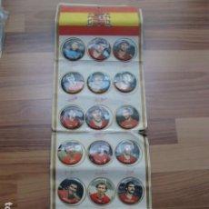 Coleccionismo deportivo: COLECCION COMPLETA DE CHAPAS DEL MUNDIAL DE FUTBOL DE 1982. Lote 111024015