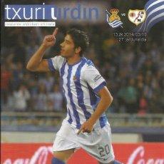 Coleccionismo deportivo: PROGRAMA REAL SOCIEDAD-RAYO VALLECANO 13-14 ANOETA. Lote 112682487