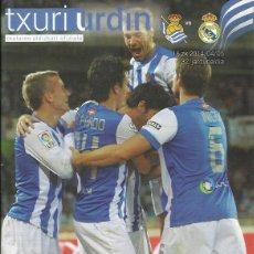 Coleccionismo deportivo: PROGRAMA REAL SOCIEDAD-REAL MADRID 13-14 ANOETA. Lote 113008123