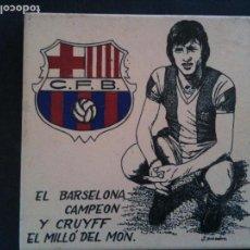 Coleccionismo deportivo: JHOAN CRUYFF-AZULEJO RARO. Lote 114895019