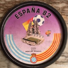 Coleccionismo deportivo: BANDEJA METÁLICA ESPAÑA 82 - ESPAÑOL. Lote 115517302
