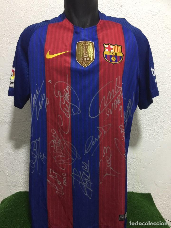 44e2662b17e Camiseta del fc barcelona 2016 17.firmada por l - Sold through ...