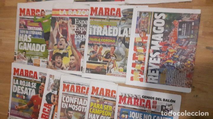 Coleccionismo deportivo: Selección española de fútbol lote 18 periódicos 2 eurocopa - Foto 3 - 118070075