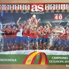 Coleccionismo deportivo: POSTER SELECCIÓN ESPAÑOLA DE FÚTBOL EUROCOPA FÚTBOL CAPEONA. Lote 118070251