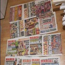 Coleccionismo deportivo: SELECCIÓN ESPAÑOLA DE FÚTBOL LOTE 18 PERIÓDICOS 2 EUROCOPA. Lote 118070075