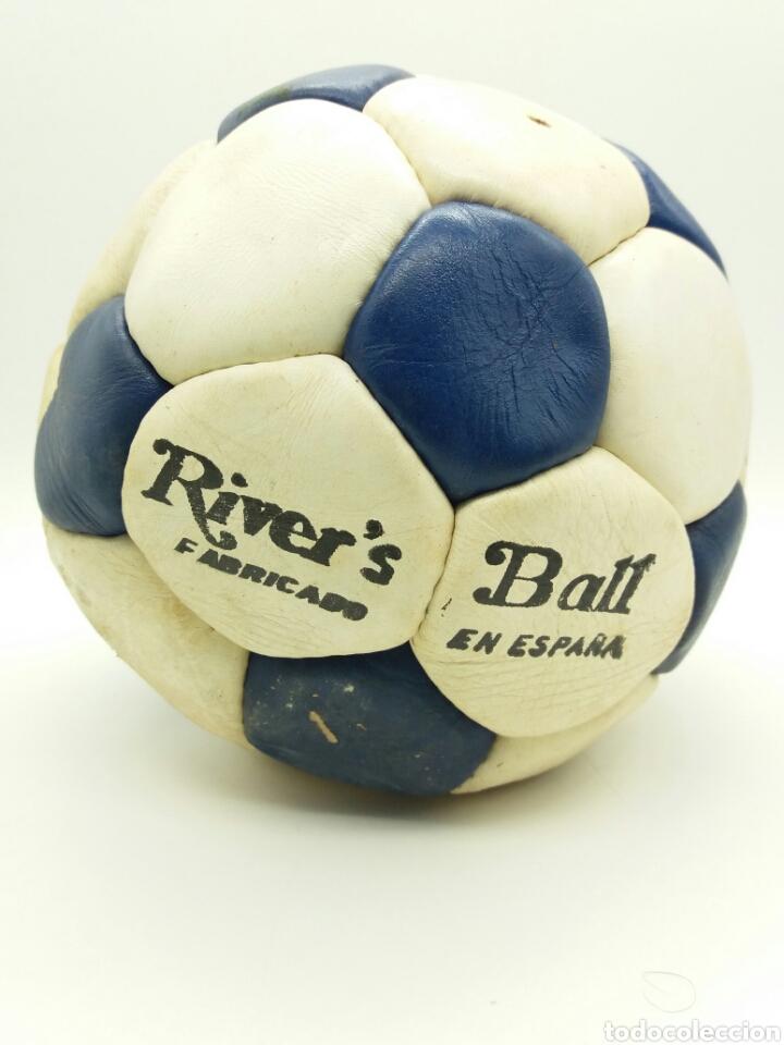 BALÓN DE FÚTBOL AÑOS 70 RIVER'S FABRICADO EN ESPAÑA (Coleccionismo Deportivo - Material Deportivo - Fútbol)