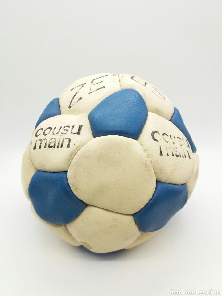 BALÓN DE FÚTBOL ZEUS COSIDO A MANO AÑOS 70 FABRICADO EN FRANCIA (Coleccionismo Deportivo - Material Deportivo - Fútbol)