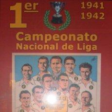 Coleccionismo deportivo: VALENCIA CF CLUB FUTBOL BALON ORIGINAL GANADOR 1ER CAMPEONATO LIGA 1941-42 CAMPEON COPA MUSEO (5. Lote 118594484