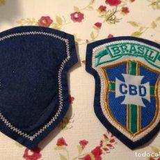 Coleccionismo deportivo: 2 PARCHES DE TELA - ESCUDO BORDADO- FEDERACIÓN FÚTBOL DE BRASIL (C.B.D) (7,5 X 6 CM) NUEVO. Lote 119013559