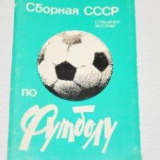 Coleccionismo deportivo: JUEGO DE 12 POSTALES SOVIETICAS.SELECSION SOVIETICA .MOSCU 1983A.URSS. Lote 120285463