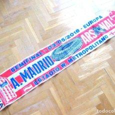 Coleccionismo deportivo: BUFANDA SCARV ATLETICO MADRID – ARSENAL LONDRES SEMIFINAL EUROPA LEAGUE 17-18 SCARF NUEVA NEW !!. Lote 125042011