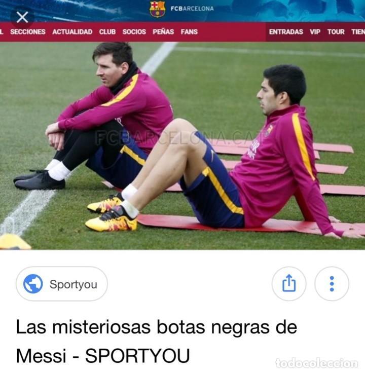 (F-180716)BOTAS UTILIZADAS POR LEO MESSI - F.C.BARCELONA - MATCH WORN - TESTER - FIRMADAS . (Coleccionismo Deportivo - Material Deportivo - Fútbol)