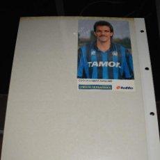 Coleccionismo deportivo: POSTAL DE FUTBOLISTA CARLKOS CARECA (ATALANTA).. Lote 128541643