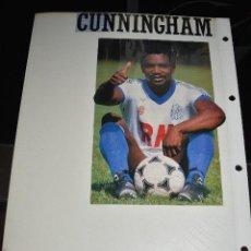Coleccionismo deportivo: RECORTE DE REVISTA DEPORTIVA CUNNINGHAM (OLYMPIQUE MARSEILLE). Lote 128543715