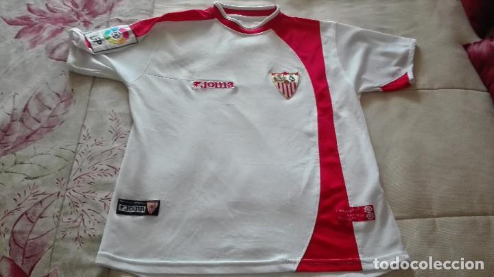 CAMISETA SEVILLA FC JOMA LINEA FIESTAS MAYORES DE SEVILLA (Coleccionismo Deportivo - Material Deportivo - Fútbol)