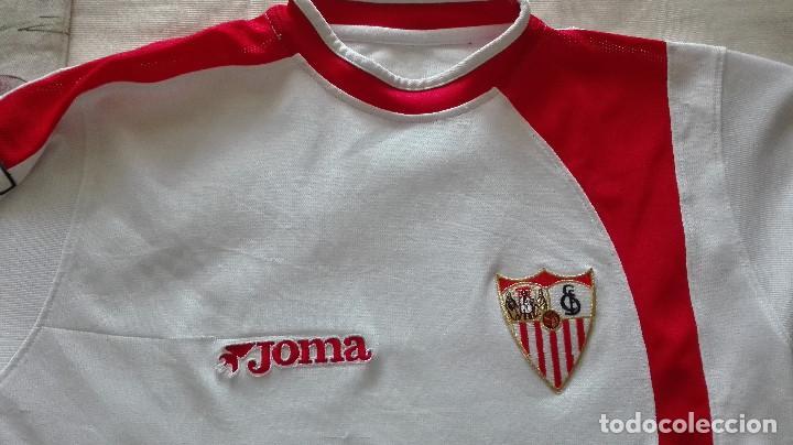 Coleccionismo deportivo: CAMISETA SEVILLA FC JOMA LINEA FIESTAS MAYORES DE SEVILLA - Foto 2 - 129965603