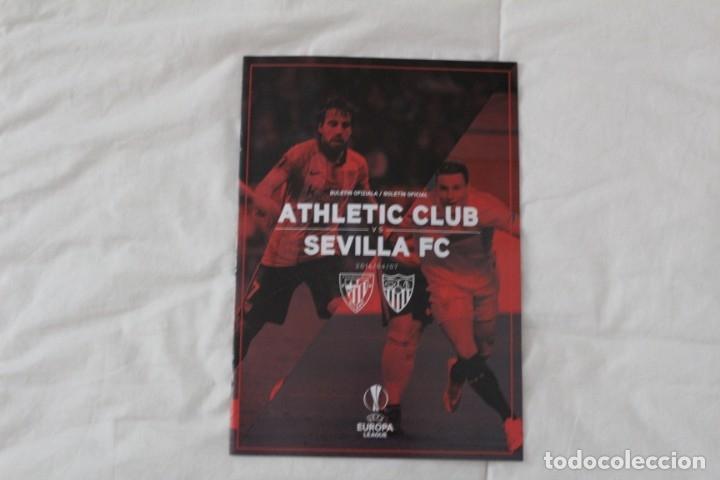 PROGRAMA OFICIAL PARTIDO DE FÚTBOL ATHLETIC BILBAO- SEVILLA. (EUROPA LEAGUE 2015-2016) (Coleccionismo Deportivo - Material Deportivo - Fútbol)
