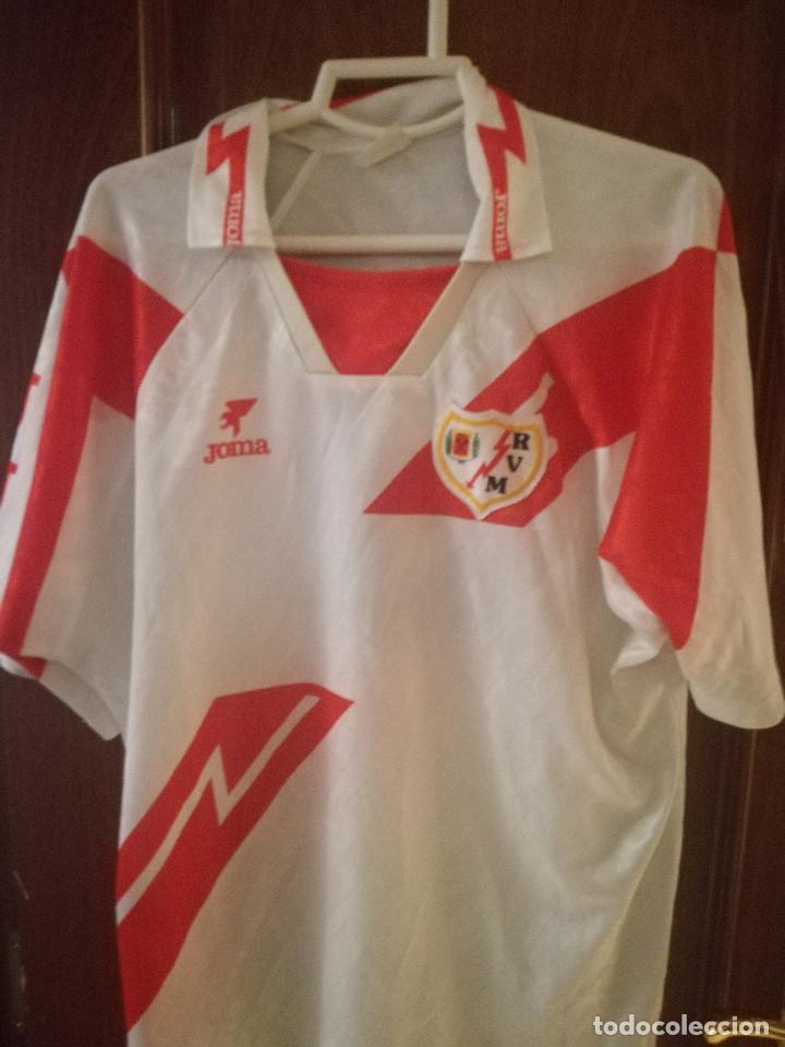 RAYO VALLECANO MATCH WORN VINTAGE XXL camiseta futbol football shirt trikot segunda mano