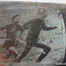 Colecionismo desportivo: EXCEPCIONAL PLACA DE IMPRESIÓN DE PERIÓDICO. GOL DE RUBEN CANO A YUGOSLAVIA. PREVIA MUNDIAL 78. Lote 132734738