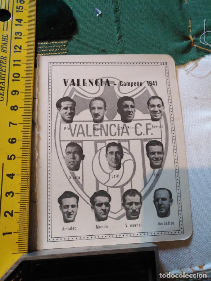 ANTIGUA HOJA FUTBOL - FOTOS DE JUGADORES EQUIPO ALINEACION - FUTBOL VALENCIA CAMPEON 1941 (Coleccionismo Deportivo - Material Deportivo - Fútbol)