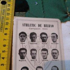 Coleccionismo deportivo: ANTIGUA HOJA FUTBOL - FOTOS DE JUGADORES EQUIPO ALINEACION - ATHLETIC DE BILBAO CAMPEON 1930. Lote 133495982