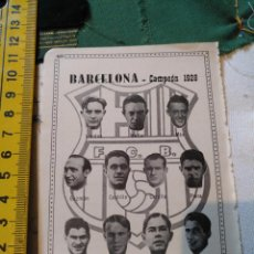 Coleccionismo deportivo: ANTIGUA HOJA FUTBOL - FOTOS DE JUGADORES EQUIPO ALINEACION - FUTBOL CLUB BARCELONA 1928. Lote 133497382