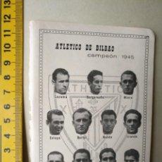 Coleccionismo deportivo: ANTIGUA PEQUEÑA HOJA DEPORTIVA FUTBOL JUGADORES EQUIPOS PLANTILLAS CLUB ATHLETIC DE BILBAO VER AÑO. Lote 133515834