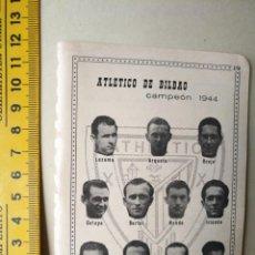 Coleccionismo deportivo: ANTIGUA PEQUEÑA HOJA DEPORTIVA FUTBOL JUGADORES EQUIPOS PLANTILLAS CLUB ATHLETIC DE BILBAO VER AÑO. Lote 133515858