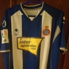 Coleccionismo deportivo: DANI JARQUE MATCH WORN RCD ESPANYOL 2009 CAMISETA FUTBOL FOOTBALL SHIRT. Lote 134909802