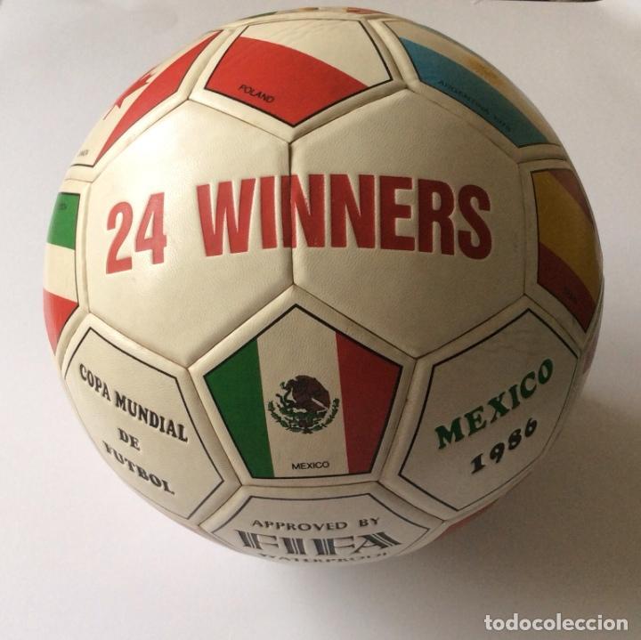 Coleccionismo deportivo: Balón copa mundial de fútbol MEXICO 1986 - - Foto 5 - 135469750