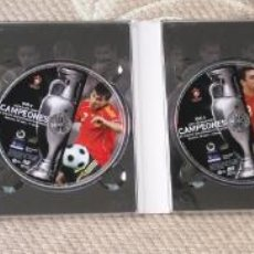 Coleccionismo deportivo: FUTBOL UEFA EURO 2008 TM CAMPEONES EL EQUIPO QUE CONQUISTO EUROPA 4 DVD . Lote 136257198