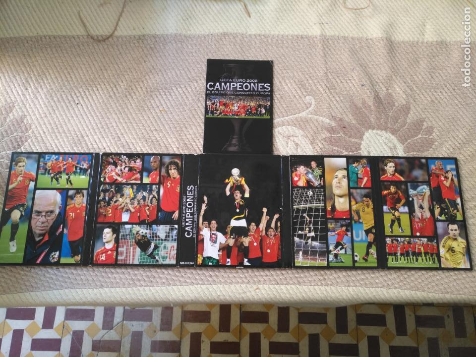 Coleccionismo deportivo: FUTBOL UEFA EURO 2008 TM CAMPEONES EL EQUIPO QUE CONQUISTO EUROPA 4 DVD - Foto 2 - 136257198